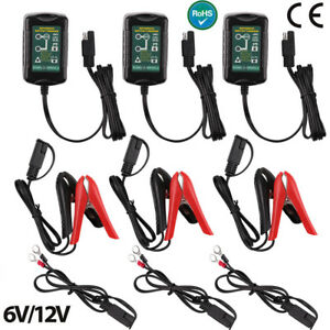 3packs 6 12v Battery Charger Trickle Maintainer Tender Motor Car Boat Atv Marine