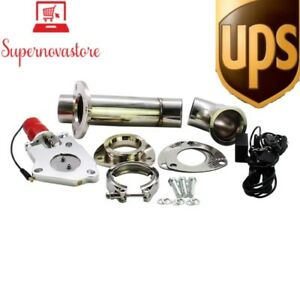 Free Ups stormcar 2 25 Inch 57mm Electric Stainless Exhaust Cutout Cut Out Dump