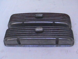 Vintage Cal Custom Chevy Valve Covers Moon Breathers