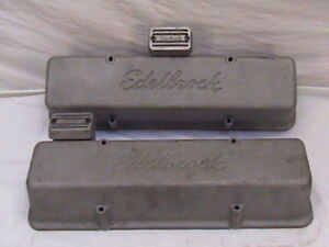 Edelbrock Chevy Valve Covers Breathers Small Block Chevy Tall Racing