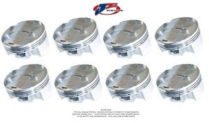 Je Forged Pistons 213129 Small Block Chevy 400 4 14 Bore 3 500 Stroke Set Of 8