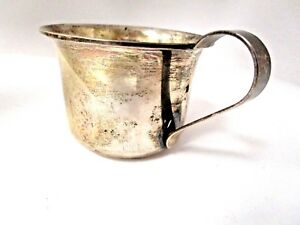 Sterling Silver Danish 1947 Baby Cup Mint Un Mongrame