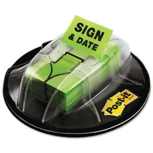 Flags In Dispenser sign Date Bright Green 200 Flags dispenser Sold As