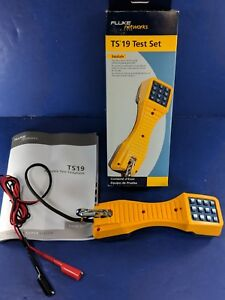 New Fluke Ts19 Test Set Original Box Banana Jack alligator Clips