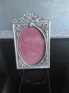 Vintage Seagull Pewter Wedding Bell 5 X 7 Picture Frame