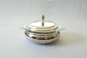 Reed Barton Silverplate Round Covered Casserole Dish