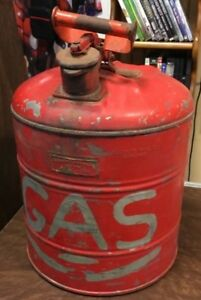 Vintage 1930 s Justrite Mfg Co Chicago 5 Gallon Safety Gas Fuel Can