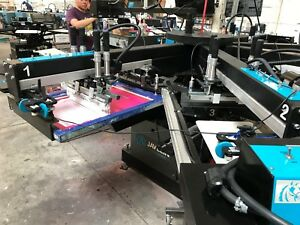 2015 Workhorse Javelin 6 8 Automatic Screen Printing Press 2 Sabre Flashbacks