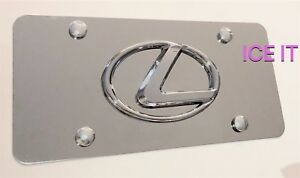 Lexus Front Mirror Stainless Steel Heavy Duty 1mm License Plate W Bolts