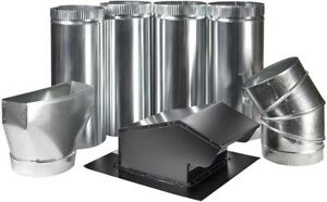 Master Flow Range Hood Appliance Vent Kit 7 Roof Hvac Ducting Galvanized Steel