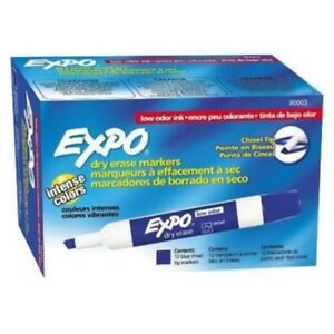Expo Chisel Tip Dry Erase Marker Blue Pack Of 144