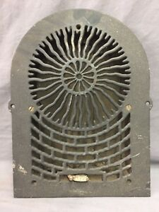 Antique Cast Iron Arch Sun Burst Heat Grate Wall Register 8x12 Dome Vtg 43 19d