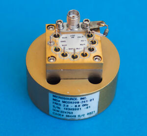 Microsource Yig Oscillator Mso0208 241 01 2 8 Ghz Tested