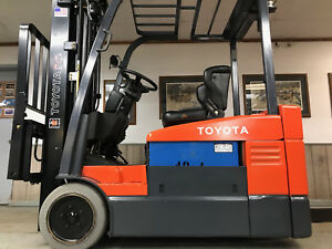 2003 Toyota 4 000 Lb Capacity Electric Forklift Forktruck Hi Lo low Hours