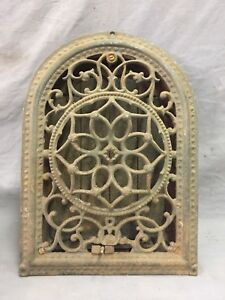 Antique Cast Iron Arch Floral Heat Grate Wall Register 8x12 Dome Vtg 45 19d