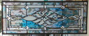 Stained Glass Window Transom Hanging 33 1 2 X 14