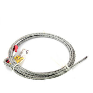 Eye Hook With Latch Plus 33 Ft X 5 8 Wire Rope
