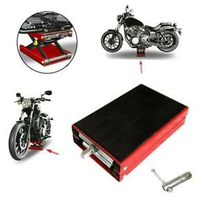 1100lbs Mini Scissor Lift Jack Motorcycle atvs Bikes Scooter Crank Stand Tool Hd