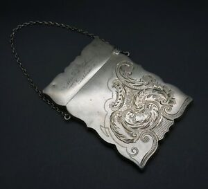 Sterling Silver Victorian Calling Card Case