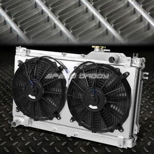 2 Row Performance Radiator Replacement Cooling Fan For 90 97 Mazda Miata Mx 5 Na