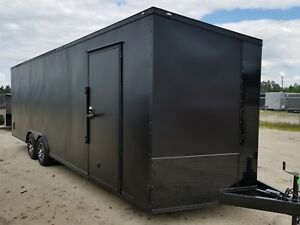 Enclosed Cargo Trailer 8 5x24 8 5 X 24 Ta Matte Blackout Car Hauler 20 22