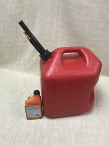 5 Gallon Plastic Fuel Can Airtight Sprout Gas Can With Stihl 5 Gallon Mix