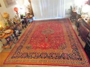 Fine Quality Authentic Large Wool Hand Knotted Persian Rug Carpet Runner