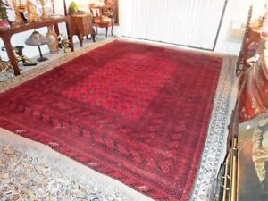 Fine Quality Genuine Turkoman Large Wool Hand Knotted Persian Rug Carpet Runner