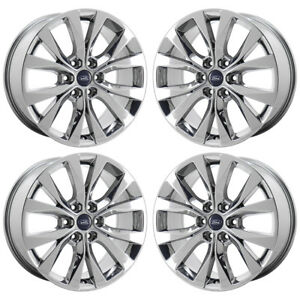 20 Ford F150 King Ranch Pvd Chrome Wheels Rims Factory Oem Set 10003 Exchange