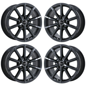 18 Audi A3 Black Chrome Wheels Rims Factory Oem 2017 2018 2019 58949 Exchange