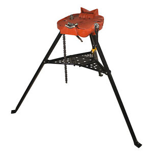 Ridgid 460 6 Portable Tristand Chain Vise Stand 36273 reconditioned