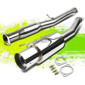 For 02 07 Subaru Wrx sti 2 0l 2 5l 4 5 Tip Performance Catback Exhaust System