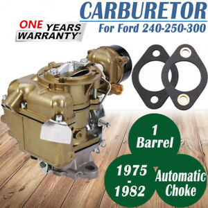 Carburetor For Ford Yf Type Carter 240 250 300 6 Cylinder Cil 1975 82 D5tz9510ag