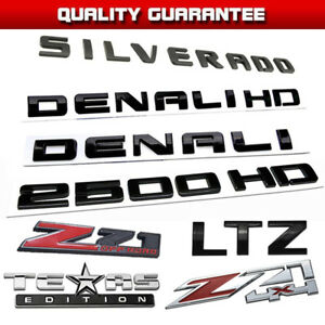 3d Abs Plastic For 2007 2018 Silverado Gmc Chevy Badge Emblem Decal