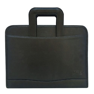 Msp 3 Rings Binder Portfolio Briefcase In Pu Leather With Writing Board Zipper