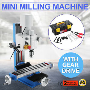 Mini Milling Drilling Machine With Gear Drive Precision 550w Variable Speed