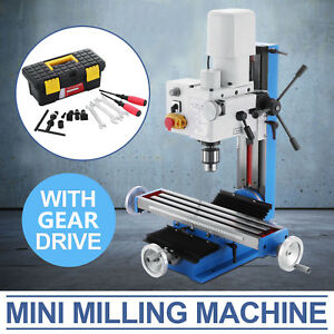Mini Milling Drilling Machine With Gear Drive Precision Durable Variable Speed