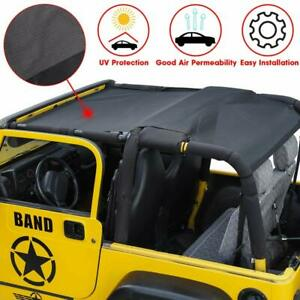 Bikini Mesh Shade Top Cover Provide Uv Protection For 1997 2006 Jeep Wrangler Tj Fits More Than One Vehicle