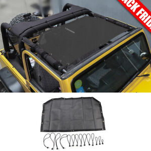 Front Durable Mesh Sunshade Bikini Top Cover Blocking Uv For Jeep Wrangler Tj Fits More Than One Vehicle