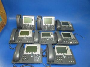 Lot Of 8 Used Cisco Ip Phone 7940 Series 47 13480 01