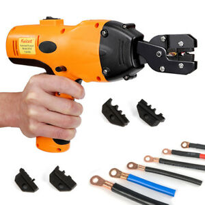 Precision Electric Crimping Pliers Tool Battery Powered dies motor Driving Top