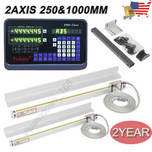 2 Axis Ttl Linear Glass Scales 14 28 Digital Readout Dro 5um Cnc Milling Lathe