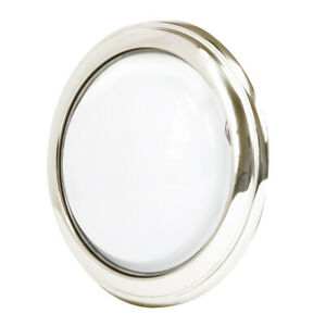 Interior Nickel Round Dome Light 12v For 1930 31 Model A Coupe