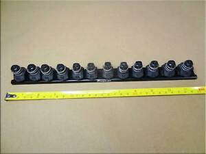 Snap On 3 8 Quick Release Locking Clips Socket Rail Black Takes 12 Sockets