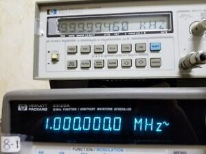 Hp 5385a Frequency Counter 10hz To 1ghz Tested At 1mhz And 1 2ghz