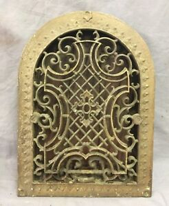 Antique Cast Iron Arch Gothic Heat Grate Wall Register 9x13 Dome Vtg 50 19d