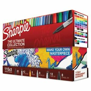 Sharpie Permanent Markers Ultimate Collection Asst Colors 115 Ct san1983255