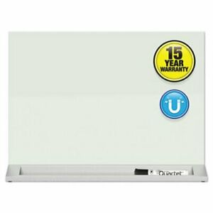Quartet Desktop Magnetic Glass Dry erase Panel 23 X 17 White qrtgdp1723w