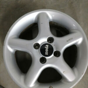 Moda By Bbs 16x7 5 4x100 40mm Set Of 4 Silver Aftermarket Rim Wheel