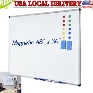 48 X36 Dry Erase Board Magnetic Markers Whiteboard W accessories School Office